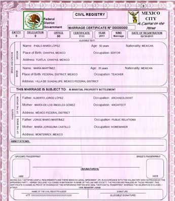 marriage certificate translation template radiovkmtk - Translate Marriage Certificate From Spanish To English Template